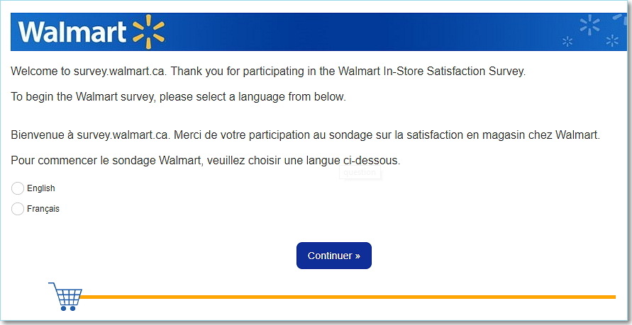 Survey.Walmart.Ca Homepage
